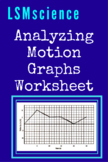 Analyzing Motion Graphs in Physics Worksheet