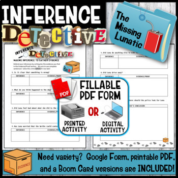 Inference Mystery Summer School Activity  (The Missing Lunatic Mystery)