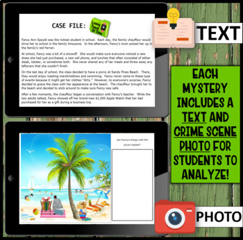 Inference Mystery-Analyze Multiple Texts to Cite and Support (Beach Outing)