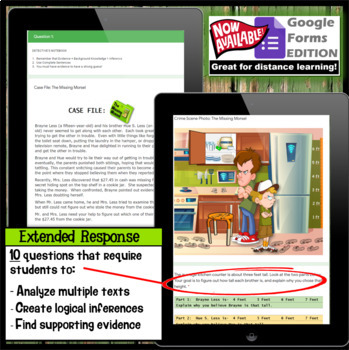 No Prep Summer School Activity Inference Detective jr. - The Missing Morsel