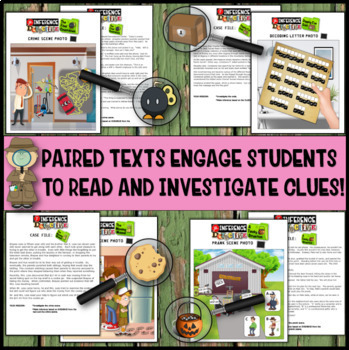 Inference Mystery-Analyze Multiple Texts to Cite and Support- Mystery Bundle#3