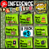 End of Year Activity Making Inferences:Detective Jr. (Green Mystery Bundle#3)