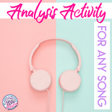 Song Analysis Activity for Any Song - Distance Learning