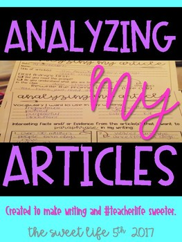 Analyzing My Articles Worksheets