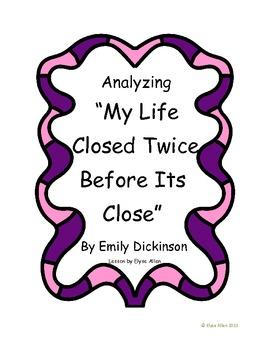 """Analyzing """"My Life Closed Twice"""" by Emily Dickinson {FREEBIE}"""