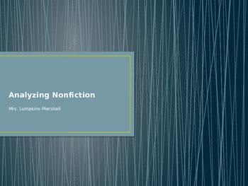 Analyzing Nonfiction
