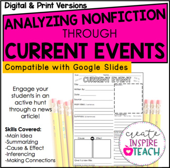 Analyzing Nonfiction Text Through Current Events + Digital for Distance Learning