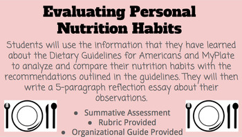 Evaluating Personal Nutrition Habits Assessment