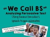 Analyzing Persuasive Text Using Emma Gonzalez's Speech to