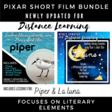 Teaching Literary Elements Using Pixar Short Films Bundle - Piper and La Luna