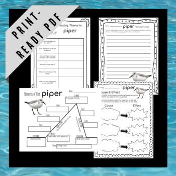 Teaching Literary Elements Using Pixar Short Films Bundle - Piper and La Luna