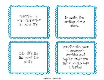 Analyzing Poetry, Drama, Prose Task Cards