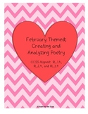Analyzing Poetry: February Themed CCSS Aligned
