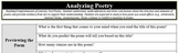 "Analyzing Poetry - ""Habits"""