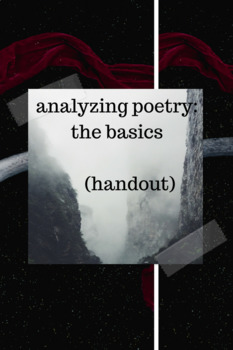 Analyzing Poetry Handout: The Basics