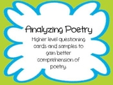 Analyzing Poetry Literacy Activity Pack- Common Core Aligned