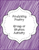 Analyzing Poetry - Station Activity