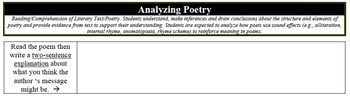 "Analyzing Poetry - ""Try, Try Again"""