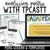 Analyzing Poetry Using TPCASTT | Brochure & Digital Notebook