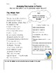 Analyzing Poetry for Grades 5-8 (Main Idea, Theme, and Aut