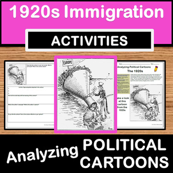 Analyzing Political Cartoons - 1920s/Immigration