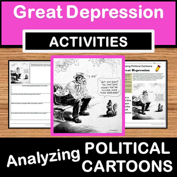Analyzing Political Cartoons - Great Depression/Bank Failures