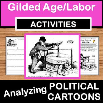 Analyzing Political Cartoons - Gilded Age/Labor/Pullman