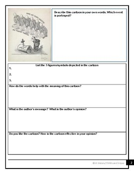 Analyzing Political Cartoons - New Deal/Court Packing/FDR