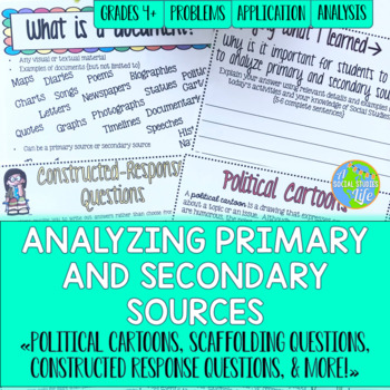 how to analyze a secondary source