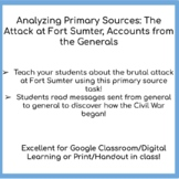 Analyzing Primary Sources: The Attack on Fort Sumter, Acco