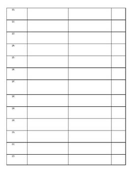 Analyzing Project Student Sheet