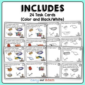 Analyzing Materials Task Cards + Digital BUNDLE