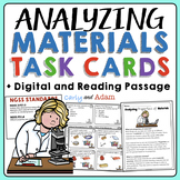 Analyzing Materials Task Cards + Digital BUNDLE