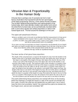 Analyzing Proportions in the Human Body (Vitruvian Principle)