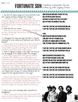 Analyzing Protest Songs: Fortunate Son