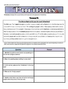 Analyzing Puritan Documents