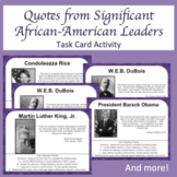 Analyzing Quotes of African-American Leaders Task Cards -