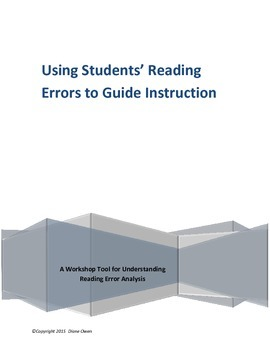 Analyzing Reading Errors to Guide Instruction