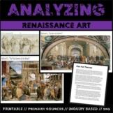 Analyzing Renaissance Art:  Primary Source Activity