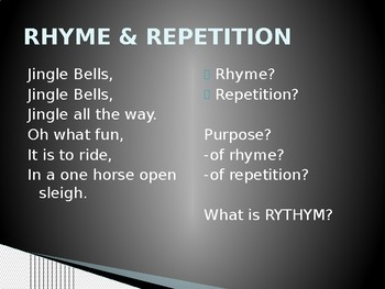 Analyzing Rhyme and Reptition