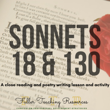 Analyzing Shakespeare's Sonnets and Sonnet Writing Activity