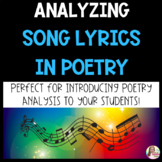 Analyzing Song Lyrics in Poetry