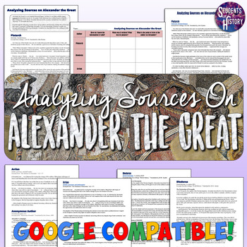 Alexander the Great Document Analysis Activity