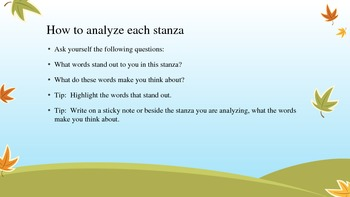 Analyzing Stanzas in Poetry Power Point