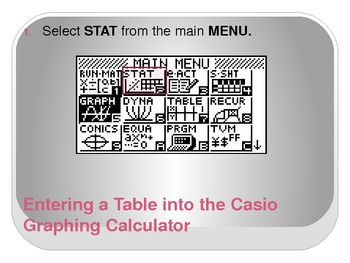 Analyzing Tables with CASIO Graphing Calculator (Linear Functions)