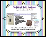 Analyzing Text Features Smartboard Lessons, Interactive Notebook