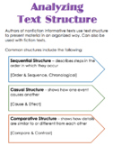 Analyzing Text Structure Notes
