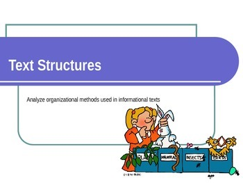 Analyzing Text Structure PowerPoint