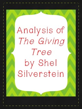 Analyzing The Giving Tree