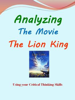 Analyzing The Movie The Lion King: Using Critical Thinking Skills